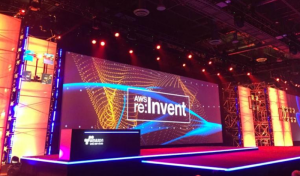 AWS ReInvent stage